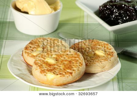 Toasted Crumpets