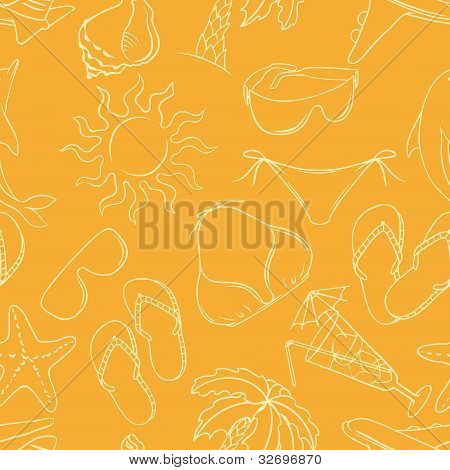 Travel background. Seamless pattern. Vector collor Illustration.