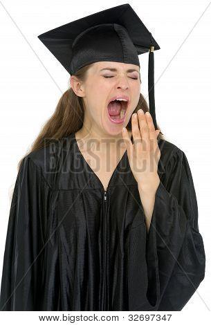 Graduation Student Girl Yawing