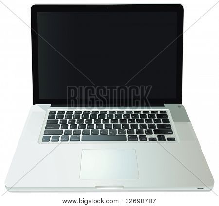 Illustration of a notebook computer - EPS VECTOR format also available in my portfolio.