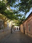 Street In The Old Part Of Varazdin, Croatia. A Street Known For Its Small Shops And Galleries. Part  poster