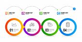 Graph Chart, 24 Hours And Diagram Line Icons Set. Timeline Infographic. Checklist Sign. Growth Repor poster