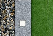 Artificial Grass, Architecture Decoration Design Of Grass Field Around Home, Artificial Grass, Fake  poster