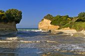 picture of sidari  - Sidari beach area at Corfu island in Greece - JPG