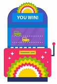 Playing Racing Cars On Electronic Device, Isolated Game Machine With Racing Transport. Competitive G poster