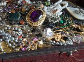 stock photo of jewel-case  - Treasure chest - JPG