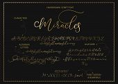 Hand Drawn Vector Alphabet Font Font With Letters, Numbers, Symbols Alternates And Ligatures. For Ca poster