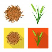 Vector Illustration Of Crop And Ecological Sign. Set Of Crop And Cooking Vector Icon For Stock. poster
