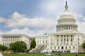 stock photo of capitol building  - US Capitol in Washington DC on sky background USA - JPG