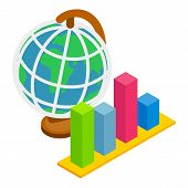 Global Dynamics Icon. Isometric Illustration Of Global Dynamics Vector Icon For Web poster