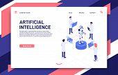Artificial Intelligence Development. Cyborg Manufacturing, Robotics Future And Bionic Robot. Futuris poster