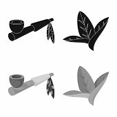 Vector Design Of Accessories And Harm Icon. Collection Of Accessories And Euphoria Stock Symbol For  poster