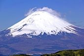 stock photo of mount fuji  - Closeup picture of the mount Fuji in Japan - JPG