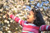 pic of children playing  - happy children in nature outdoor - JPG