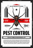 Pest Control Disensection And Protection, Sprayers And Insects. Vector Fumigation , Extermination Of poster