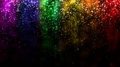 Lgbt Color Festive Background With Shiny Falling Particles, Rainbow Colorful Abstract Graphic For Br poster