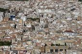 stock photo of parador  - View of Jaen city residential area from Parador de Jaen Castillo de Santa Catalina in Spain - JPG