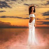 image of tunic  - Aphrodite in a light of sunset - JPG