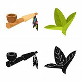 Vector Design Of Accessories And Harm Icon. Collection Of Accessories And Euphoria Vector Icon For S poster