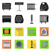 Isolated Object Of Household And Appliances Symbol. Collection Of Household And Appliance Stock Symb poster