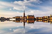 Scenic Panoramic View Of Gamla Stan, Stockholm At Sunset, Capital Of Sweden poster