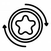 Exchange Bonus Icon. Outline Exchange Bonus Vector Icon For Web Design Isolated On White Background poster