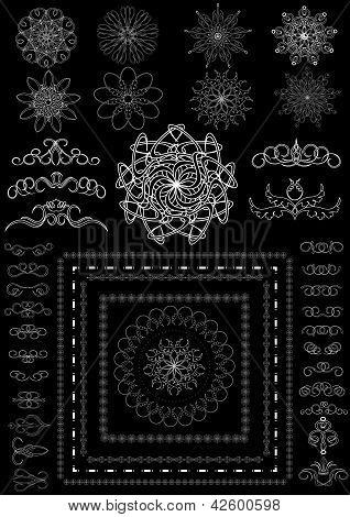 Version decorative calligraphic brush