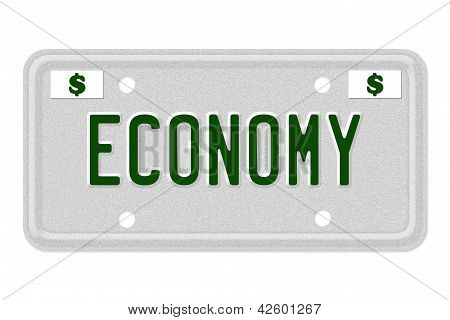 Economy Car  License Plate