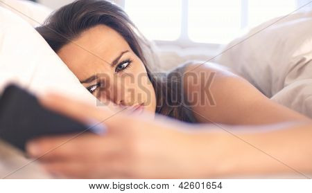 Woman Unhappy With A Text Message