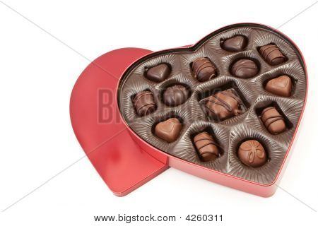 Heart Shaped Valentines Box With Treats