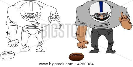 American Football Player Vector Illustration