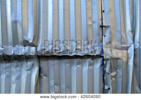Alumínio danificado
