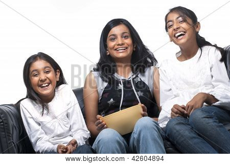 group of Indian girls