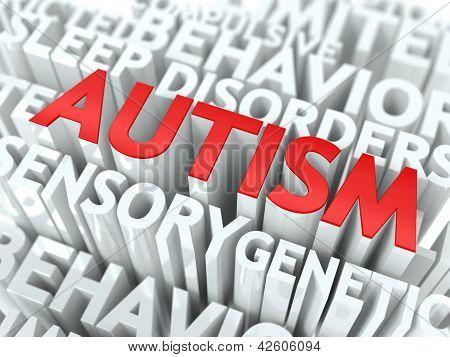 Concepto de autismo.