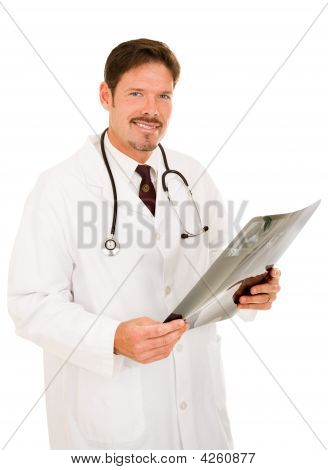 Handsome Doctor With X-ray