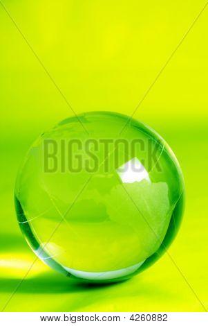 Green Glass Globe