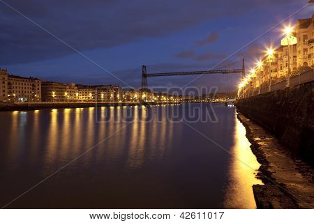 Bridge Of Bizkaia, Portugalete, Bizkaia, Basque Country, Spain