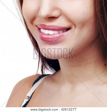 Smile Of A Beautiful Young Woman .