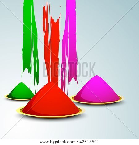 Indian colorful festival Holi celebration background with colors. EPS 10.