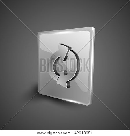 Glossy 3D web 2.0 refresh symbol icon set. EPS 10.