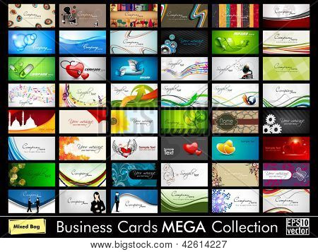 Abstract professional and designer business card template or visiting card set