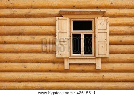 Wooden Window With Shutter Doors