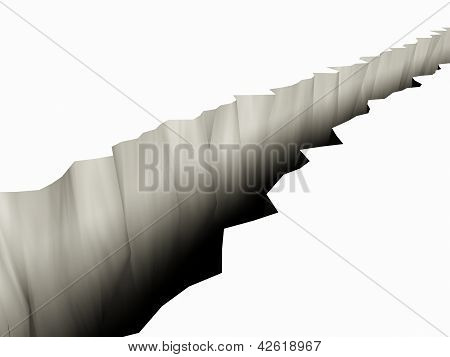 3D Rendered Chasm