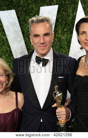WEST HOLLYWOOD, CA - 24 FEB: Daniel Day-Lewis auf der Vanity Fair Oscar Party at Sunset Tower auf Febr