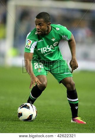 BARCELONA - FEB, 17: Dorlan Pabon of Betis during the Spanish League match between Espanyol and Betis at the Estadi Cornella on February 17, 2013 in Barcelona, Spain