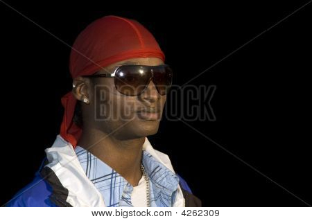 Young Smiling African American Man In Sunglasses