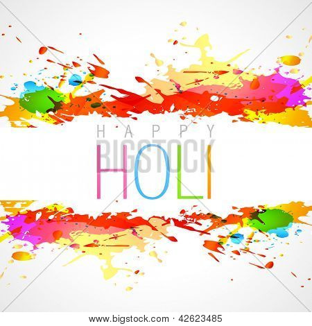 vector colorful holi festival background