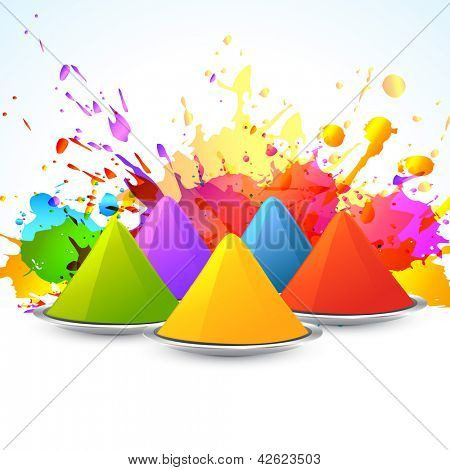 vector colorful background of holi festival with gulal