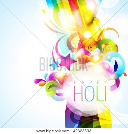 colorful holi festival vector background
