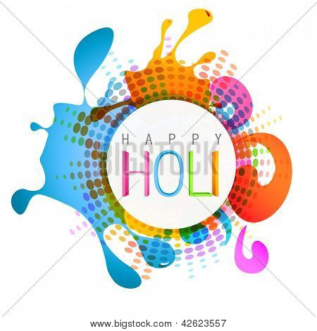 vector colorful indian festival holi background